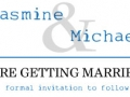 Save the Date Invitation - Jasmine & Michael